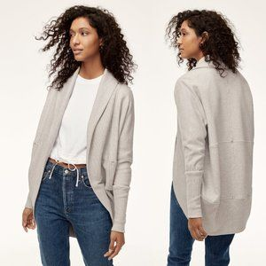 Wilfred Heather White Open Front Diderot Cardigan